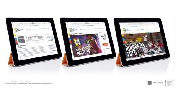 Realizzazione sito spoletoacolori.it responsivo per tablet