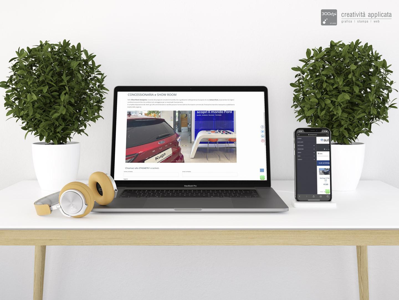 Realizzazione siti web Spoleto professionali e responsivi - 300dpi STUDIO per Autopama - Marchesini FORD Umbria