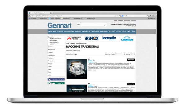 Sito internet Gennarisrl.com - prodotti