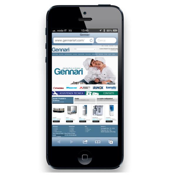 Sito internet Gennarisrl.com - home page mobile