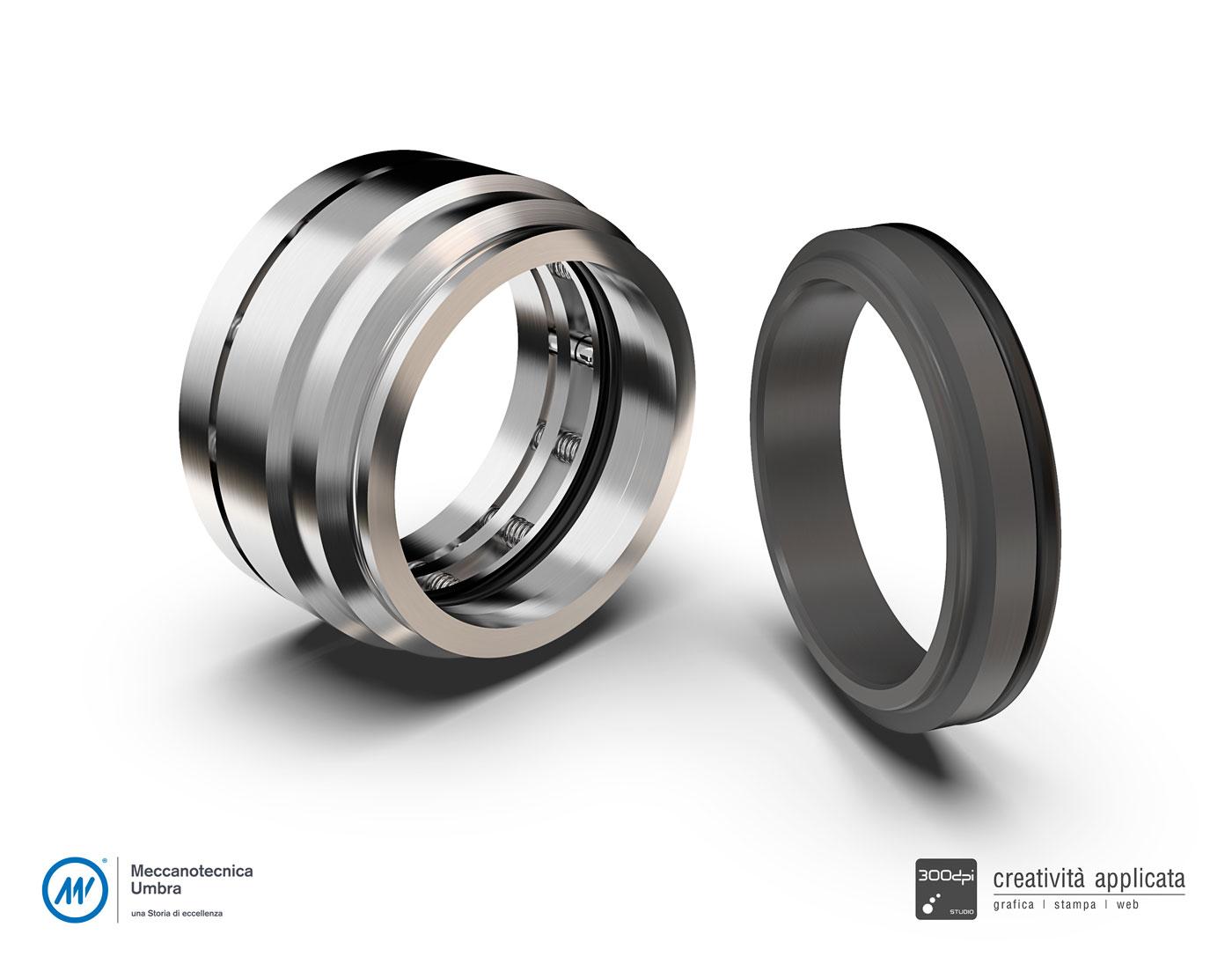 Render 3D: pezzo meccanico - Meccanotecnica Umbra