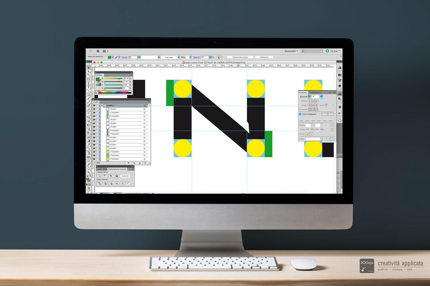 Restyling logo Gelateria NUOVO FIORE Rimini | 300dpi STUDIO