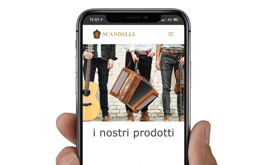 Scandalli Accordions: sito internet