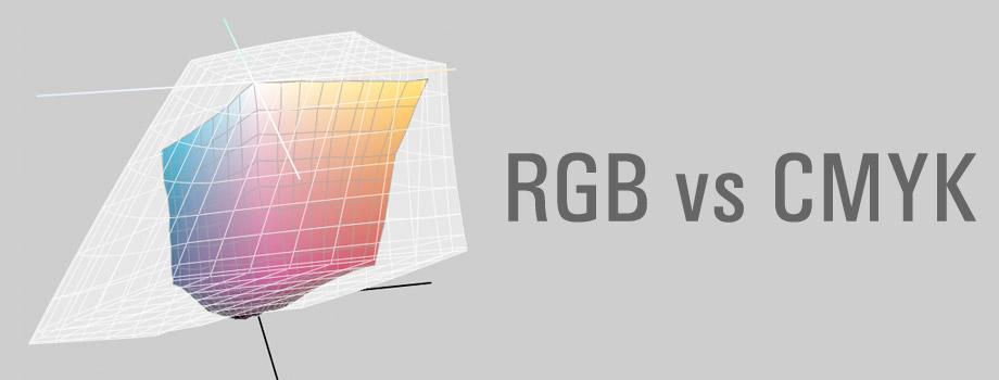 Spazio colore RGB e CMYK a confronto