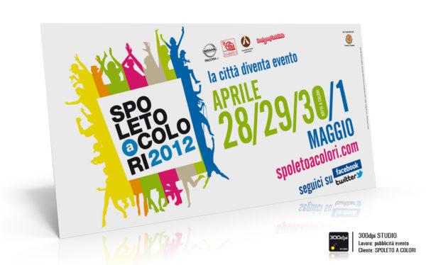Grafica manifesto 6x3 mt. per evento Spoleto a Colori