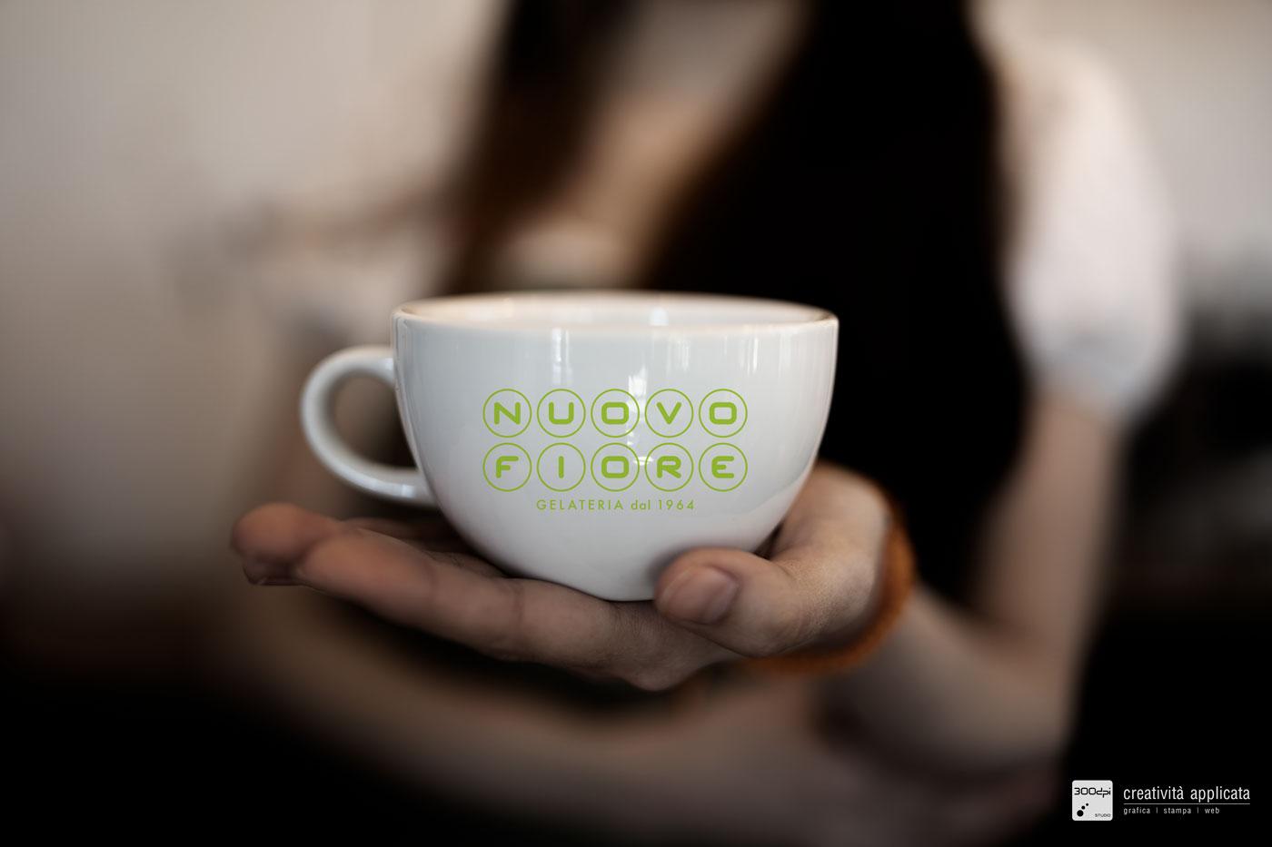 Tazza caffè Gelateria NUOVO FIORE Rimini | 300dpi STUDIO