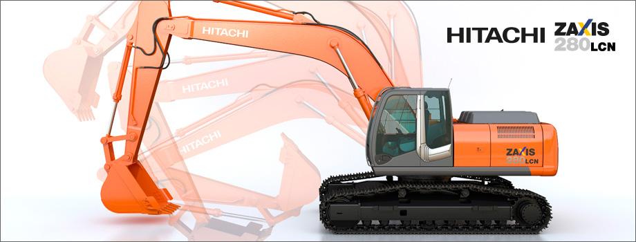 Modellazione 3D e Rendering: Escavatore Hitachi Zaxis 280 LCN
