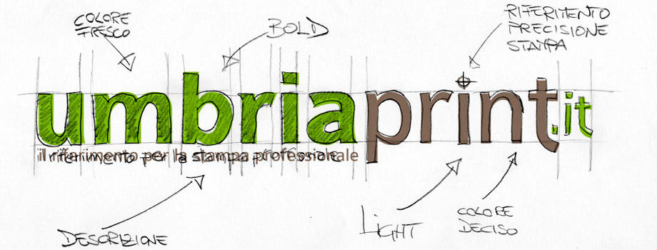 UmbriaPrint.it: design logo