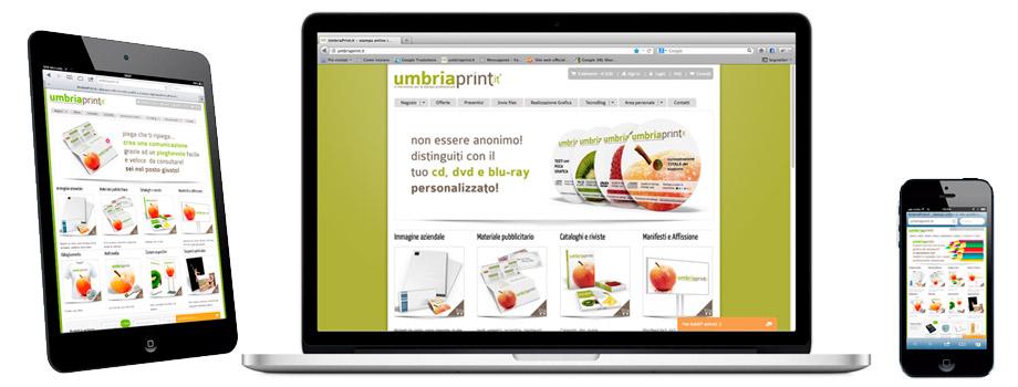 Sito internet e-commerce UmbriaPrint.it