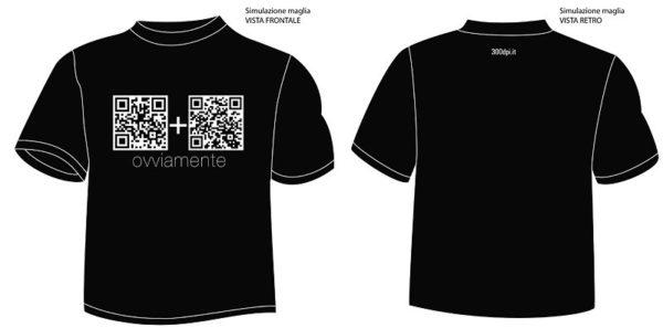 Progetto grafico tshirt interattiva qrcode
