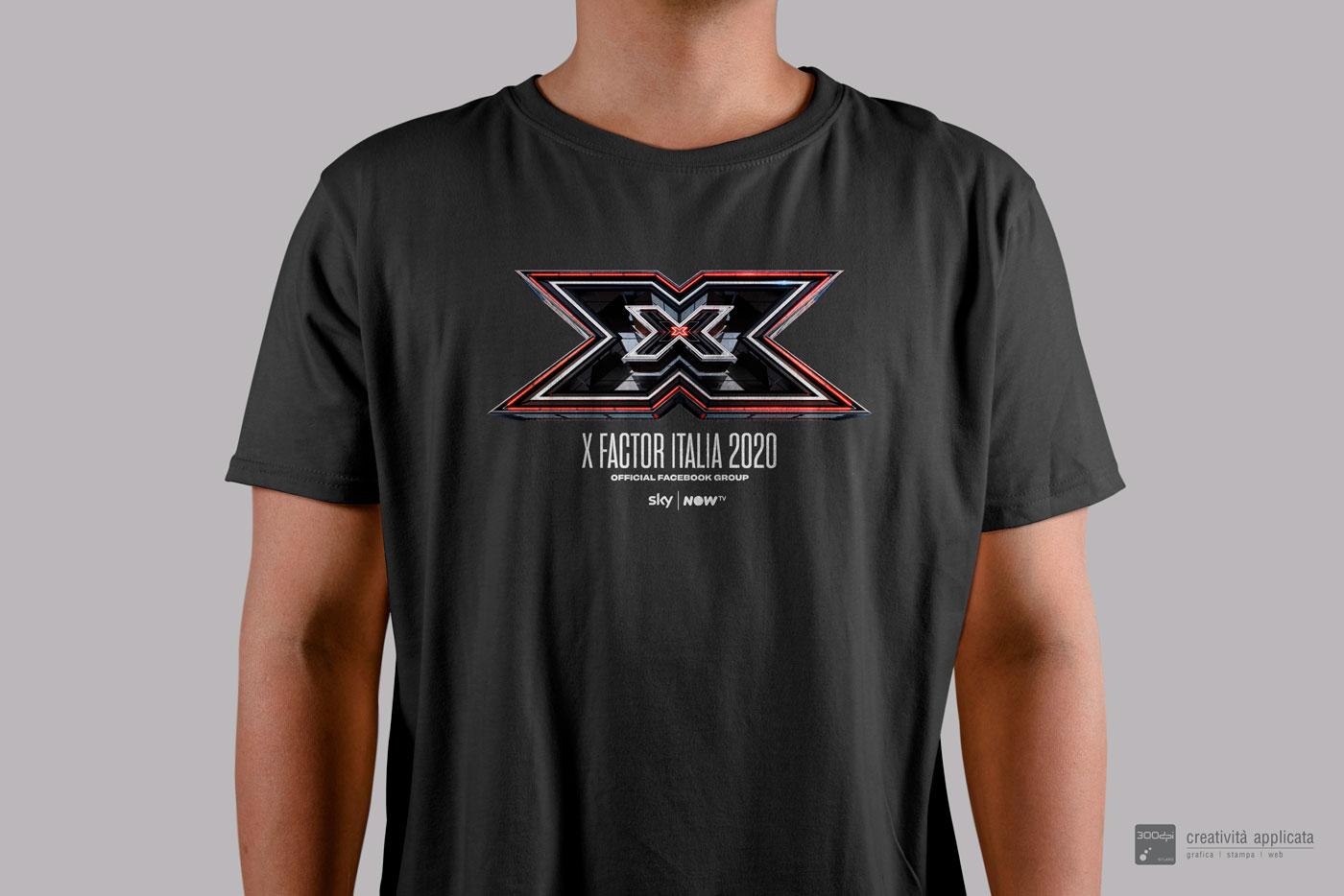T-Shirt Nera X Factor 2020