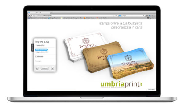 UmbriaPrint.it - Canale Wetransfer.com dedicato