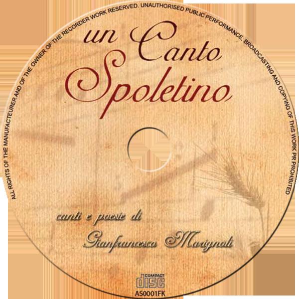 """Grafica label CD di """"Un Canto Spoletino"""""""