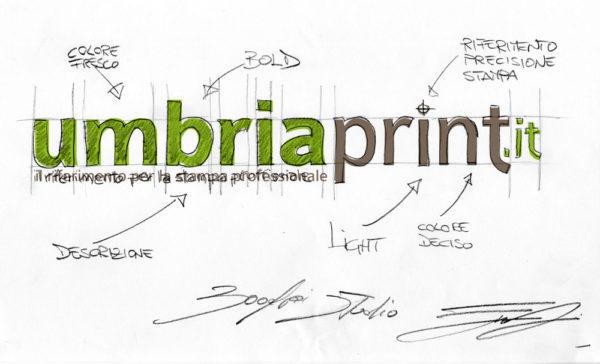 Vettorializzazione logo a matita UmbriaPrint.it
