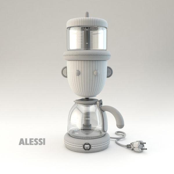 Wire caffettiera GIO Alessi
